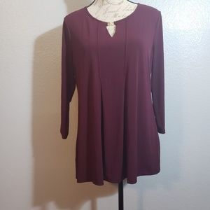 Charter Club 3/4 Sleeve Blouse sMed